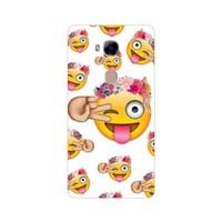 Bordo Huawei Gr5 Kapak Kılıf Emoji Baskılı Silikon