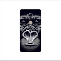 Bordo Huawei Gr5 Kapak Kılıf Goril Baskılı Silikon
