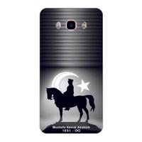 Bordo Samsung Galaxy J5 2016 Kapak Kılıf Atatürk Baskılı Silikon