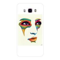 Bordo Samsung Galaxy J5 2016 Kapak Kılıf Baskılı Silikon