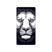 Bordo Sony Xperia Z5 Premium Kapak Kılıf Kaplan Baskılı Silikon