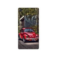 Bordo Sony Xperia Z5 Premium Kapak Kılıf Baskılı Silikon