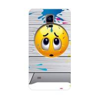 Bordo Samsung Galaxy Note 4 Kapak Kılıf Emoji Baskılı Silikon