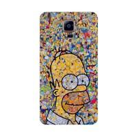 Bordo Samsung Galaxy Note 4 Kapak Kılıf Simpson Baskılı Silikon