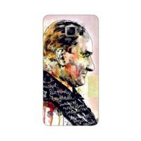 Bordo Samsung Galaxy Note 5 Kapak Kılıf Atatürk Baskılı Silikon