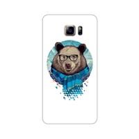 Bordo Samsung Galaxy Note 5 Kapak Kılıf Ayıcık Baskılı Silikon