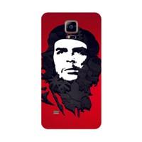Bordo Samsung Galaxy Note 4 Edge Kapak Kılıf Che Guevara Baskılı Silikon