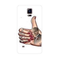 Bordo Samsung Galaxy Note 4 Edge Kapak Kılıf Atatürk Baskılı Silikon