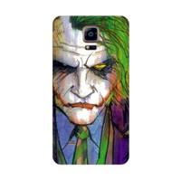 Bordo Samsung Galaxy Alpha Kapak Kılıf Joker Baskılı Silikon