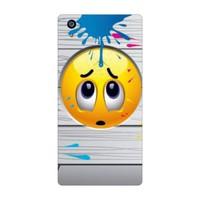 Bordo Sony Xperia Z5 Kapak Kılıf Emoji Baskılı Silikon