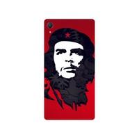 Bordo Sony Xperia M4 Aqua Kapak Kılıf Che Guevara Baskılı Silikon