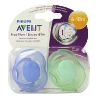 Philips Avent Hava Delikli Ortodontik 2'Li Emzik Mavi