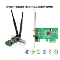 Netis Wf2113 300Mbps 2*5 Dbı Pcı Kablosuz Adaptör