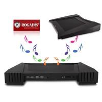 Rogadis 80308 3 Fanlı Speaker+4Adet Usb Hub Notebook Soğutucu Stand
