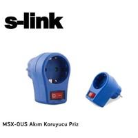 S-Lınk Msx-0Us 1Li Anahtarlı Akım Korumalı Mavi Priz