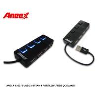Aneex E-B375 Usb 2.0 Siyah 4 Port Ledli Usb Çoklayıcı