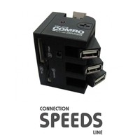 C.Speeds Lıne Ag-Kr7 Usb 2.0 Siyah Harici Kart Okuyucu Usb Çoklayıcı