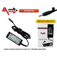 Aneex Ag-Net22 22W 9.5V 2.315A 4.8*1.7 Netbook Adaptörü Asus