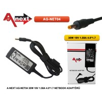 Aneex Ag-Net04 30W 19V 1.58A 4.0*1.7 Netbook Adaptörü Hp