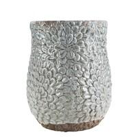 Gri Büyük Seramik Vazo