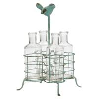 Metal Standlı Kuş Figürlü Vazo
