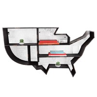 Metal Amerika Haritası Duvar Organizeri