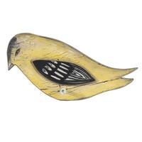 Kuş Formunda Eskitme Ahşap Askı