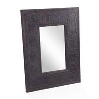 Kabartmalı Metal Duvar Aynası