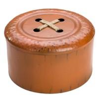 Düğme Formunda Metal Kutu Kahve