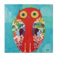 Baykuş Desenli Kanvas Duvar Panosu