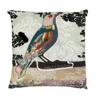 Kuş Desen Aplikeli Yastık