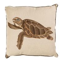 Küçük Kaplumbağa Nakışlı Kare Yastık