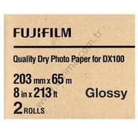 Fujifilm DX100 InkJet Fotoğraf Kağıdı Glossy (Parlak) - 8'' x 213' - 2 Rulo