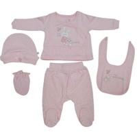 Caramell ZK2596 First Rabit Bebek 5 li Hastane Çıkış Seti