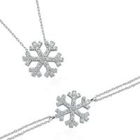 Glorria Gümüş Kar Tanesi Set