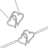 Glorria Gümüş Kalp Set