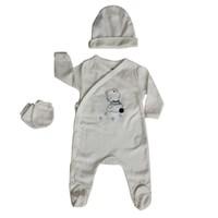 İdil Baby 5945 3'Lü Tulum Beyaz