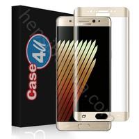 Case 4U Samsung Galaxy Note 7 3D Kavisli Cam Ekran Koruyucu Altın