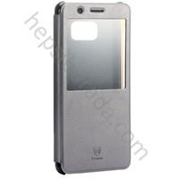 Case 4U Baseus Samsung Galaxy Note 7 Sunie Series Pencereli Kılıf Gri