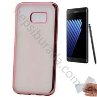 Case 4U Samsung Galaxy Note 7 Lazer Kaplama Silikon Kılıf Rose Gold