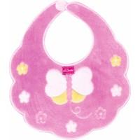 Sevi Bebe Piti Çiçekli Mama Önlüğü Pembe