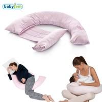 BabyJem Sırt Destekli Hamile Ve Emzirme Yastığı / Pembe