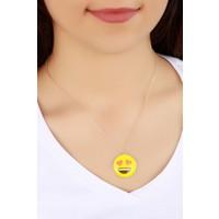 Trend Aşık Emoji Bayan Kolye