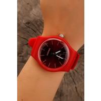 Kırmızı Silikon Tasarım Bayan Saat