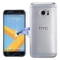 Kılıfshop HTC 10 Sert Mike Şeffaf Tam Koruma Kılıf+Kırılmaz Cam