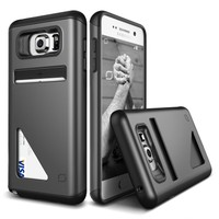 LIFIC Samsung Galaxy Note 5 Mighty Card Defense Kılıf Steel Silver