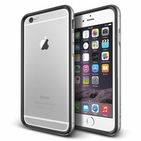 Verus Apple iPhone 6 Plus/6S Plus Iron Bumper Kılıf Black Silver