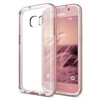 Verus Samsung Galaxy S7 Edge Crystal Bumper Kılıf Rose Gold