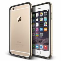 Verus Apple iPhone 6 Plus/6S Plus Iron Bumper Kılıf Black Gold