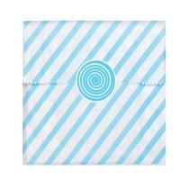 KullanAtMarket Mavi Çizgili Kağıt Şeker Poşeti ve Etiketi 24 Adet